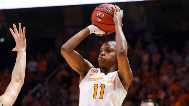Diamond DeShields. Photo courtesy of Tennessee Athletics