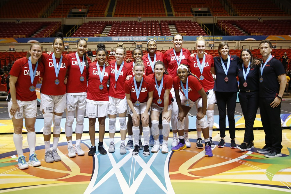 Canada finishes in second place at FIBA Americas. Photo courtesy of FIBA