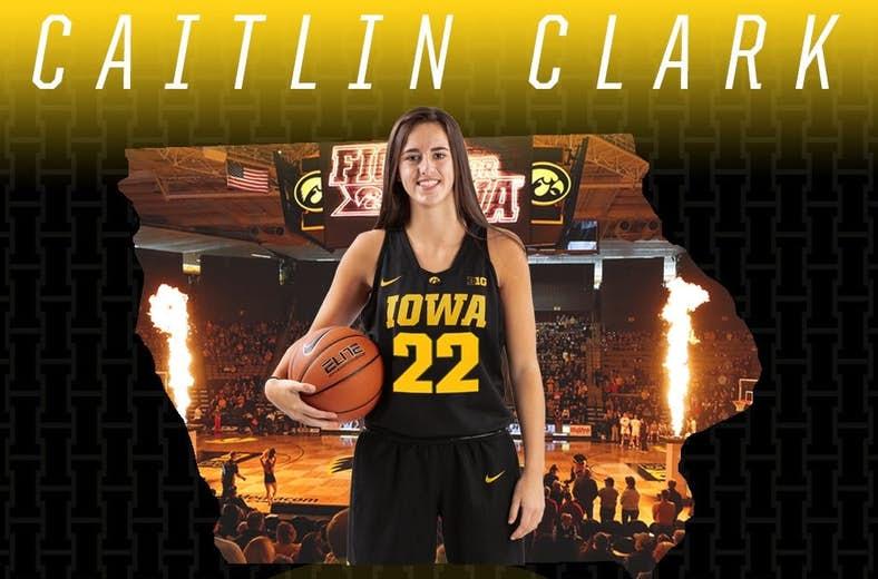 Caitlin Clark of the Iowa Hawkeyes.