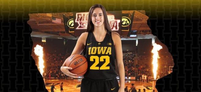 Caitlin Clark of the Iowa Hawkeyes.