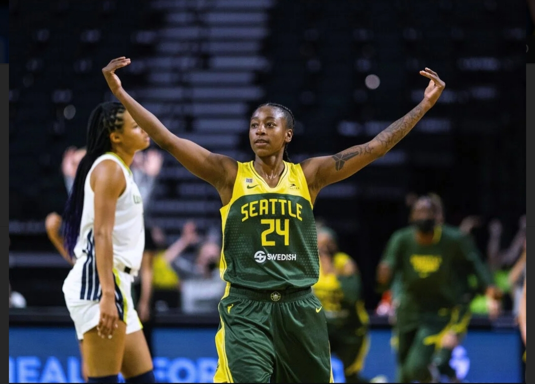 Jewell Loyd of the Seattle Storm