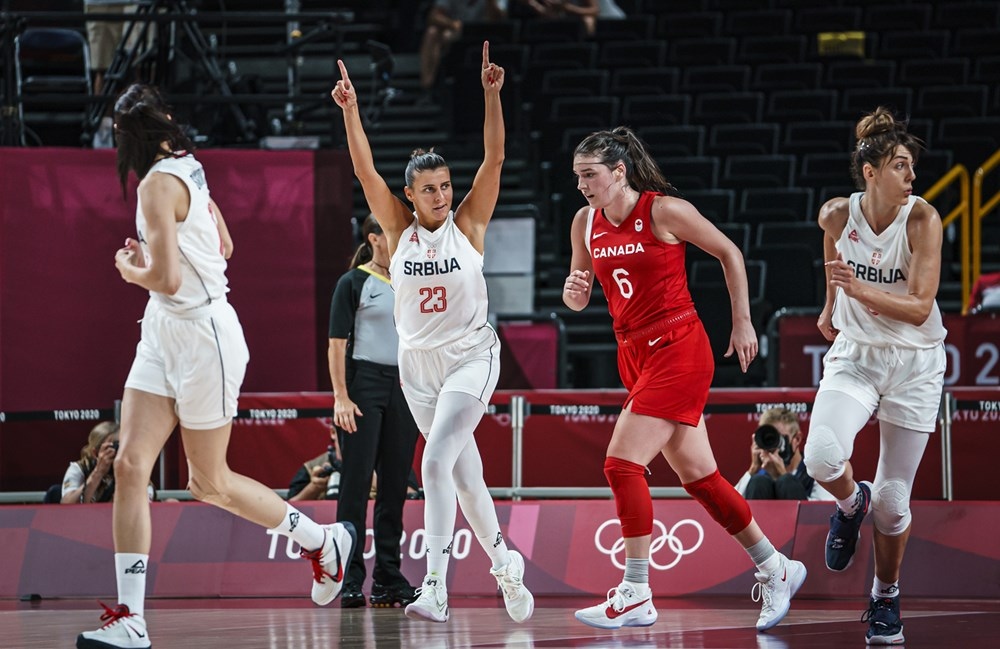 Serbia vs Canada at the Tokyo 2021 Olympics