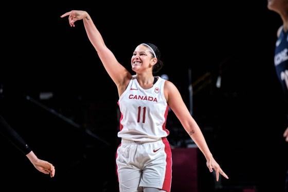 Natalie Achonwa of Team Canada